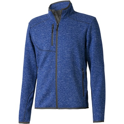 ELEVATE Herren Strickfleece Jacke Tremblant, blau, XS