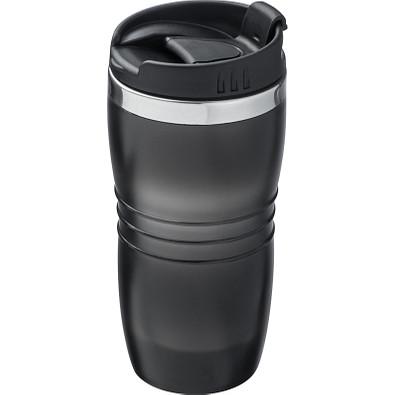 Trinkbecher aus edelstahl, 450 ml, schwarz