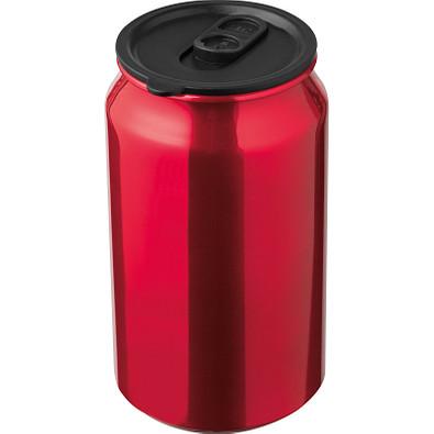 Trinkbecher in Getränkedosenoptik, 330 ml, rot