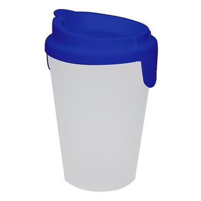 Trinkbecher Turin mit Deckel, 400 ml, standard-blau PP