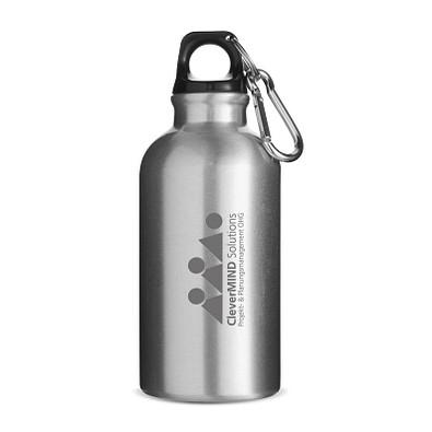 Trinkflasche Outdoor, 400 ml, Silber