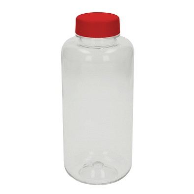 Trinkflasche Refresh, 1000 ml, transparent/rot