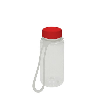 Trinkflasche Refresh inkl. Strap, 400 ml, transparent/rot