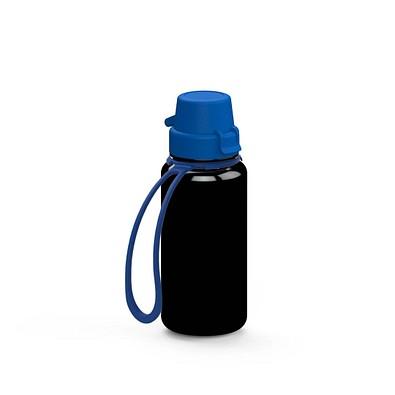 """Trinkflasche """"School"""" Colour inkl. Strap 0,4 l, schwarz"""