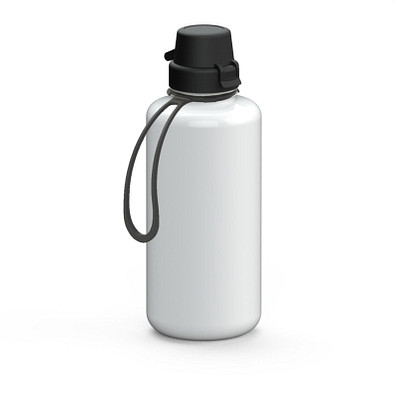 "Trinkflasche ""School"" Colour inkl. Strap 1,0 l, weiß"