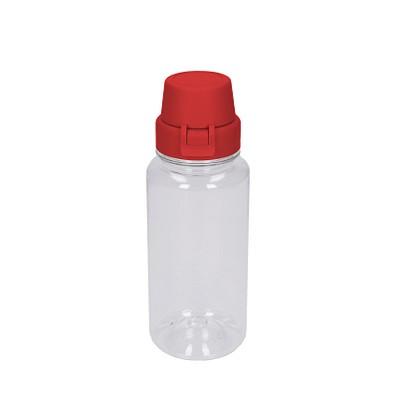 Trinkflasche School, 400 ml, transparent/rot