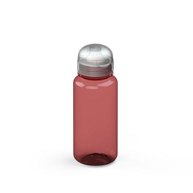 "Trinkflasche ""Sports"" colour 0,4 l, transparent-rot"