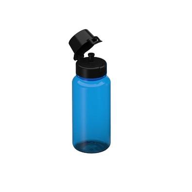 Tritan Trinkflaschen, 400 ml, transparent-blau