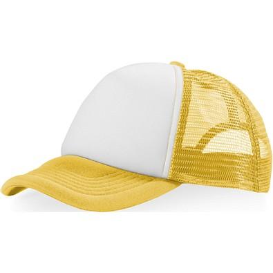 Trucker Kappe mit 5 Segmenten, gelb,weiss