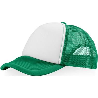 Trucker Kappe mit 5 Segmenten, grün,weiss
