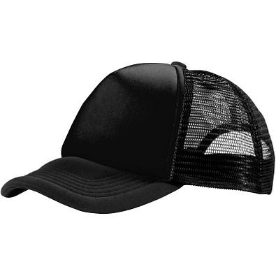 Trucker Kappe mit 5 Segmenten, schwarz
