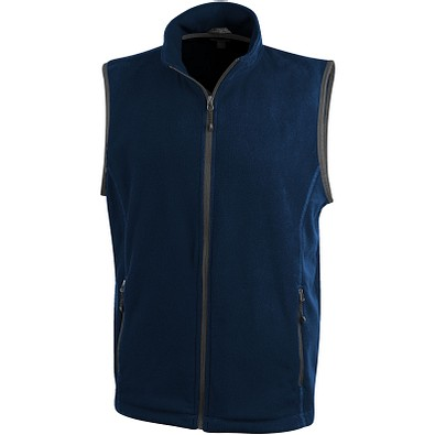 ELEVATE Herren Fleece Weste Bodywarmer Tyndall, dunkelblau, S
