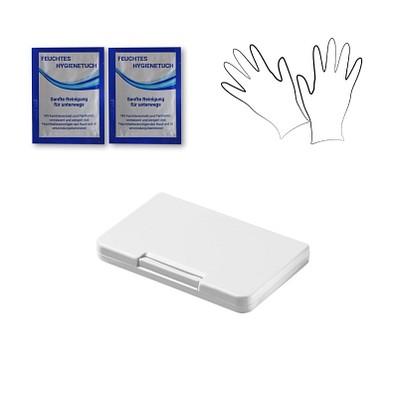 """Universalbox """"keep clean"""" inkl. Hygienetuch & Einweghandschuhe, weiß"""
