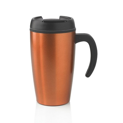 XD DESIGN Urban Becher, 400 ml, orange/schwarz