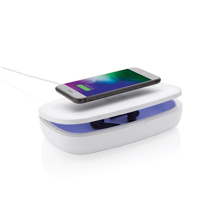 XD COLLECTION UV-C Sterilisations-Box mit 5W Wireless Charger, weiß
