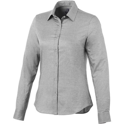 ELEVATE Damen Langarm Bluse Vaillant, Steel grey, L