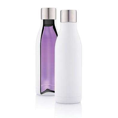 XD COLLECTION Vakuum Stainless Steel Flasche mit UV-C Sterilisator, 500 ml, weiß