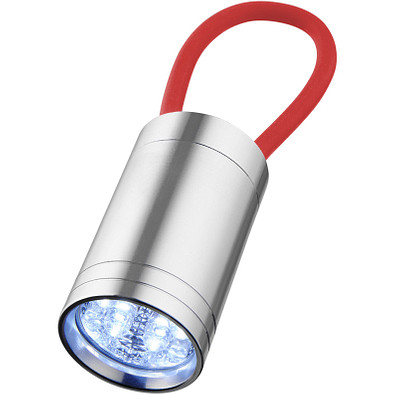 Vela 6-LED-Taschenlampe mit Leuchtband, rot