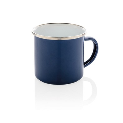 XD COLLECTION Emaille Becher Vintage, 350 ml, blau