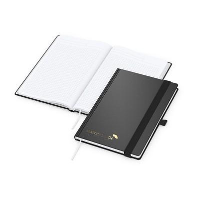 geiger notes Vision-Book A5 Bestseller, Prägung schwarz-glänzend, schwarz