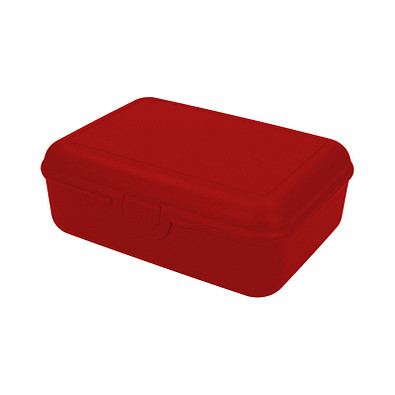 Vorratsdose School-Box deluxe, mit Trennschale, standard-rot