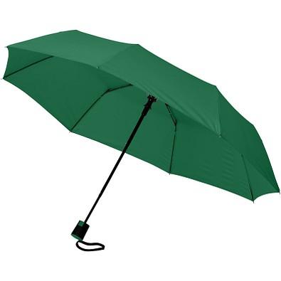 """Wali 21"""" Automatik Kompaktregenschirm, grün"""