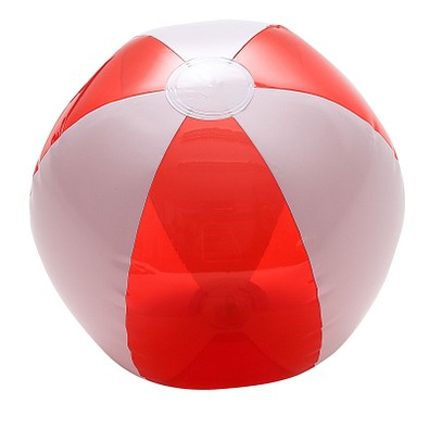 Wasserball, weiß/rot