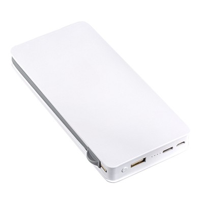 reeves® Powerbank Wireless Charging Leicester, 10.000 mah, weiß