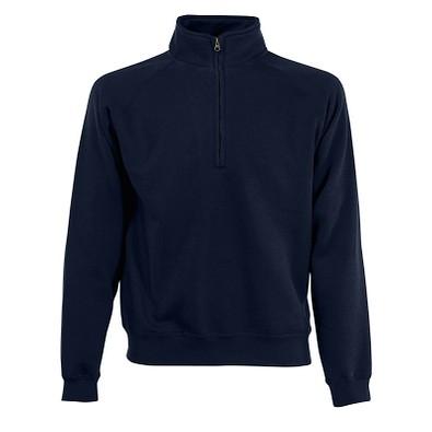 FRUIT OF THE LOOM® Unisex Sweatshirt Zip-Neck, navy, M