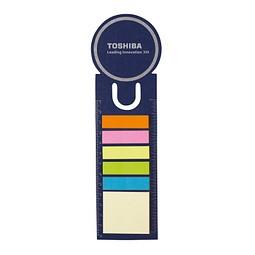 Haftnotiz-Lesezeichen, Blau inkl. 1-farbigem Druck