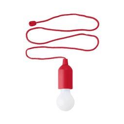 LED-Lampe Lightbulb, Rot inkl. 1-farbigem Druck