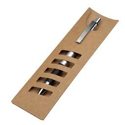 Kugelschreiber Papp-Stecketui, Natur inkl. Gravur