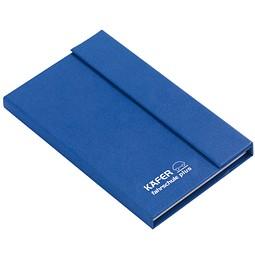 Haftnotizbuch Colour, Blau inkl. 1-farbigem Druck