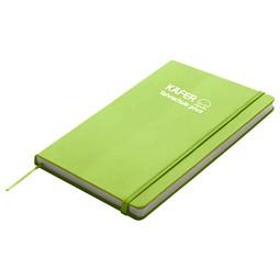 Notizbuch Happy, DIN A6, Apfelgrün inkl. 1-farbigem Druck